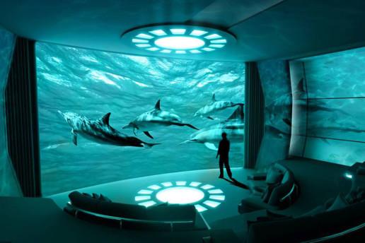 Yacht Intelligence AV Nemo Room with IMAX screen